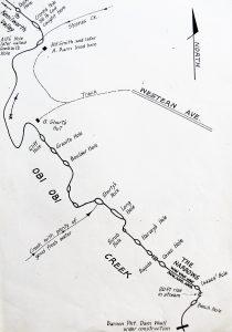 Obi Obi Creek below Baroon Pocket with local names