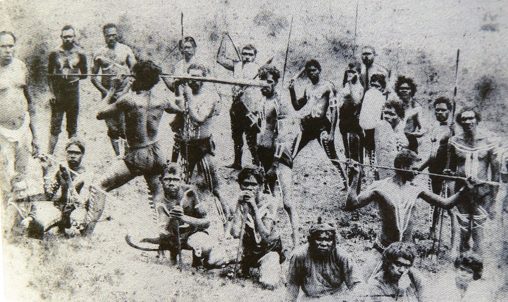 An 1880s gathering at Bridge Creek which joins the Obi Obi at Baroon Pocket