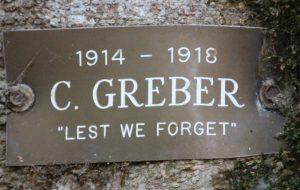 Cecil Greber Plaque