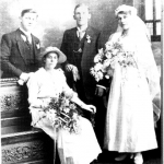 Harry Weitemeyer wedding to Caroline (Lena) Duhs. 23 January 1918