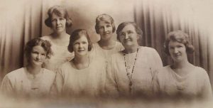 The Skene Girls 1925: Back Row - Laura and Lizzie Front Row - Ann, Elsie, their mother Agnes and sister Agnes.