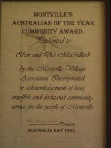 Montville's 1999 Citizenship Award