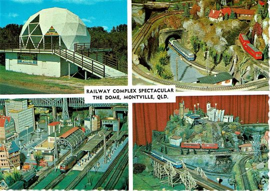 Postcard of the Dome and Model Railway