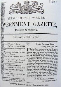 Bunya Proclamation 1842