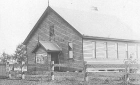 History of Montville Precinct – School of Arts Hall and Village Green