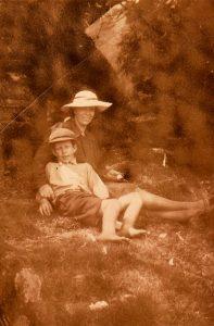 Laura Woof nee Skene with her son Robert c. 1937