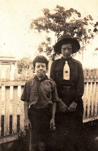 Robert and his sister Laura in Scout and Guide Uniforms c 1930s