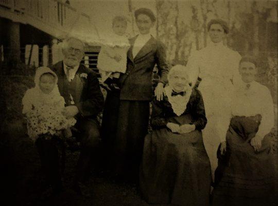 Seated - Bill Vining, Granny Bignall and Caroline Vining early 1920s