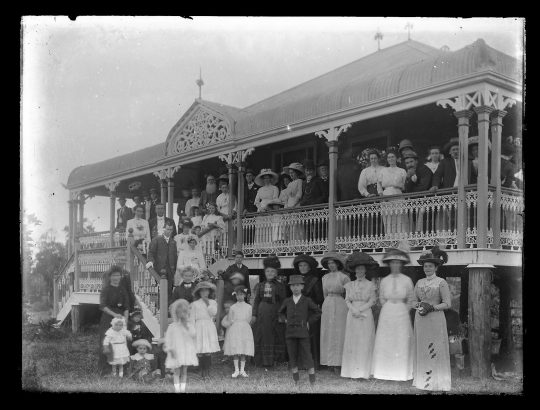 The wedding of Monty and Ethel Smith at their home, 1913