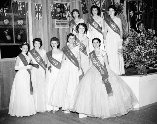 Pineapple Queen Entrants 1955