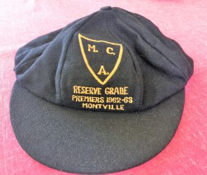A Cap from the Premiers 1962-63 Montville Reserve Grade Cricket Team