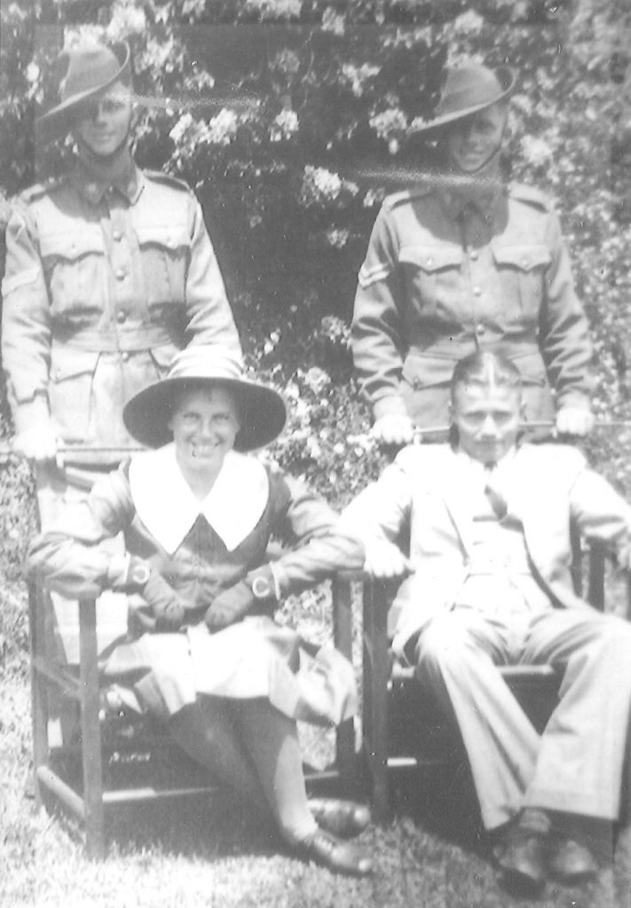 The Brown Children about 1940 Hilary and John standing, Dawne and Pat seated