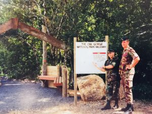 New Zealand Army Engineers at the Entrance to the Walking Tracks
