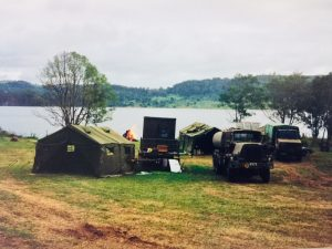 New Zealand Army Engineers Camp on George Johnston's land above Baroon Dam