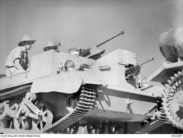 Bren gun carrier and crew (Australian War Memorial)