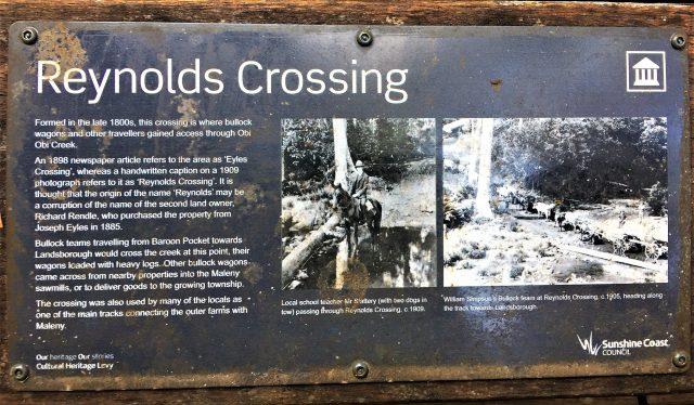Reynolds Crossing where bullock teams crossed the Obi